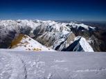 Camp 4 below after the summit (by Edita Nichols)