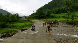Edita during the trek along Bhudi Ghandaki (photo by Kevin T)_n