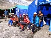 Edita with sherpas before summit push (by Edita Nichols)