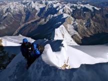 Summit ridge (by Edita Nichols from the summit)
