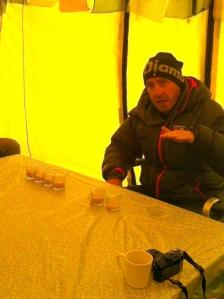 Phil doing demo of oxygen