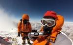 Edita and Tarki Sherpa on the summit