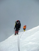 Difficult climb to the North Col