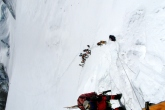 Start of steep section North Col