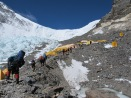 AJ team is leaving ABC for the North Col - Summit Push begins photo by Javier