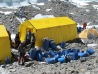 Sherpas getting ready to leave ABC for the summit push