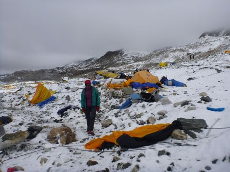 Base Camp after the earthquake