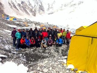 Altitude Junkies Everest/Lhotse 2015 team at EBC