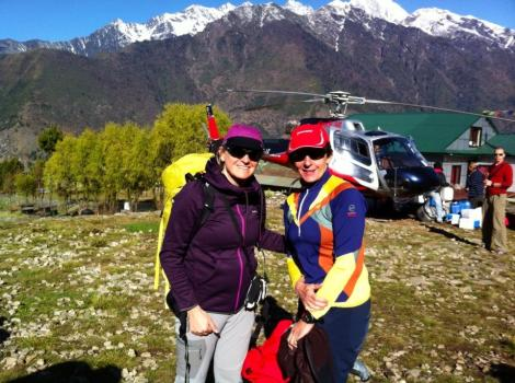 Here I am with Margaret arriving at Lukla earlier today!