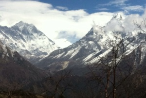 Views of Ama Dablam, Nuptse, and many other peaks from the Everest View Hotel (3,880m)