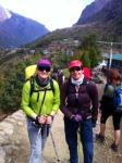 Me and Margaret setting off on the Everest Base Camp trail from Lukla to Phakding earlier today